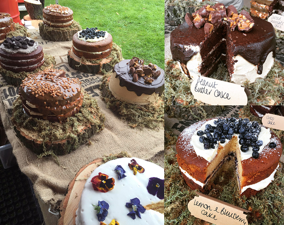 Cakes on display at Leamington Food & Drink Festival