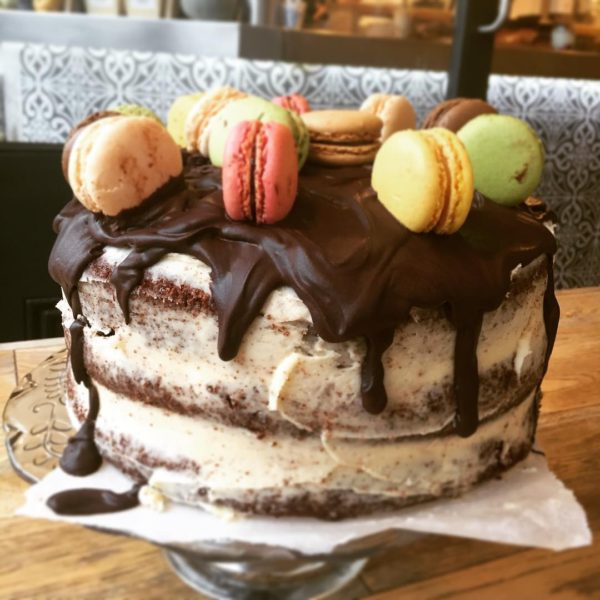 Macaron Chocolate Drippy Cake
