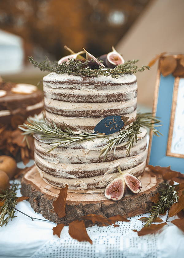 Ginger & Vanilla Naked Wedding Cake