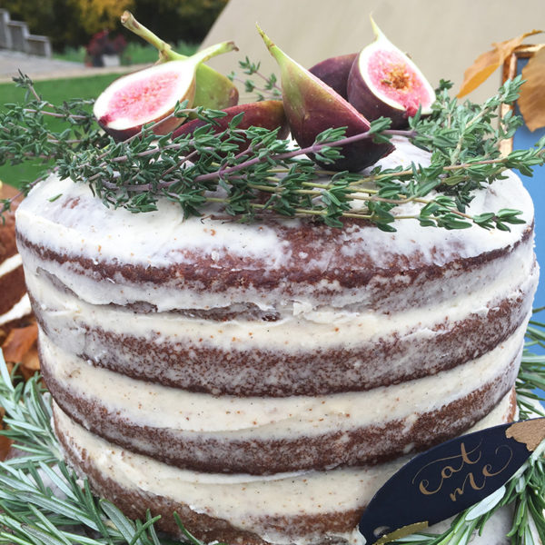 Ginger and Vanilla Naked Cake