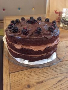Blackberry and Chocolate cake
