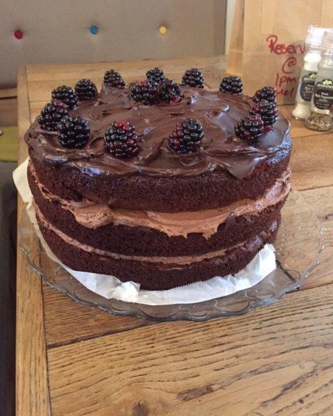 Blackberry and Chocolate cake