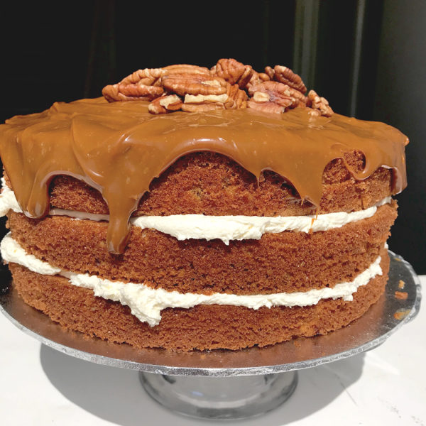 Salted Caramel and Pecan Cake