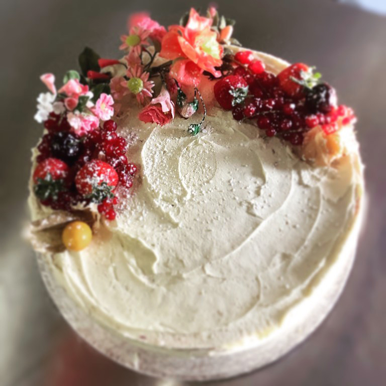 Fanny's Fancies Birthday Cake with Floral Decoration