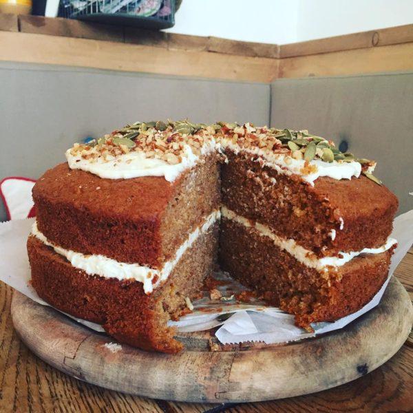 Butternut Squash & Pecan Cake