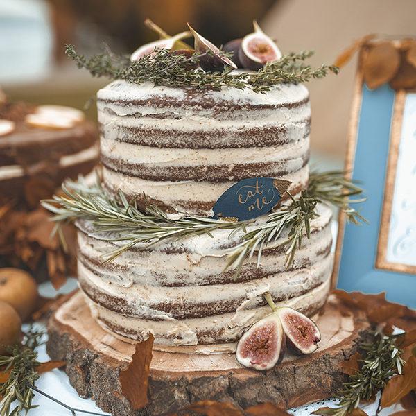 Ginger & Vanilla Naked Wedding Cake