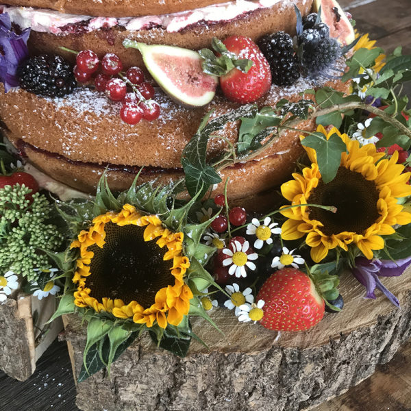 Fanny's Fancies Victoria Sponge with Fresh Fruit and Flowers