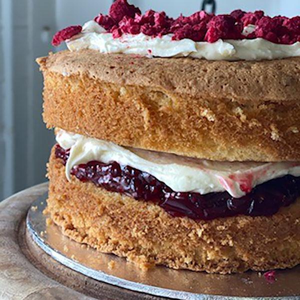 Rose, Raspberry and Pistachio Cake